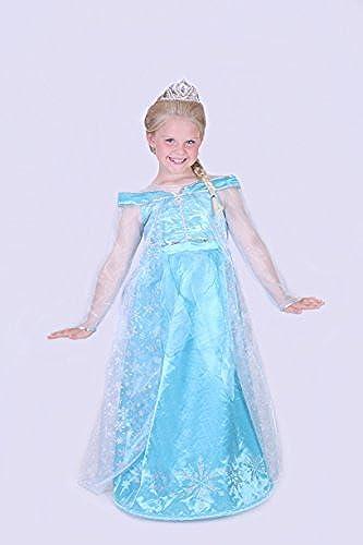 Authentic Disneyland Paris Von Elsa Gefürene Kostüm verkleiden sich Kinder mädchen Alter 12 Jahre Größe Rare