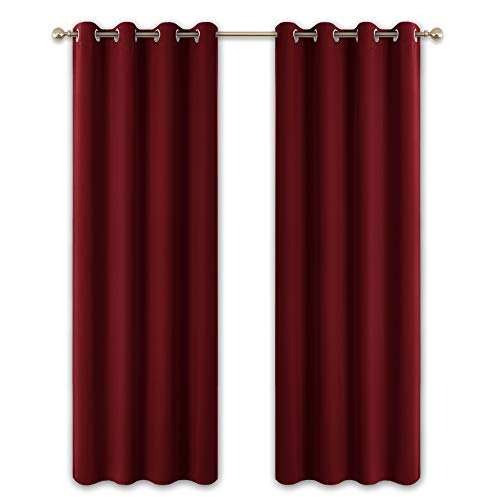cortinas salon granate