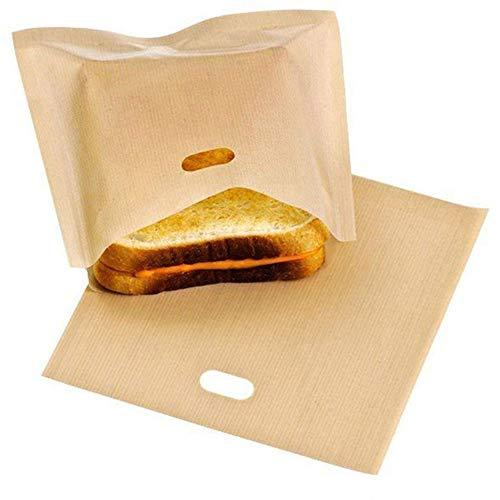 Youlala 2 Stück Wiederverwendbare Toast-Tasche,Sandwich Toast Taschen Taschen Antihaft-Mikrowellen-Tasche