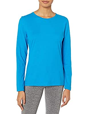 Hanes Women's Long Sleeve Tee, Deep Dive, Large