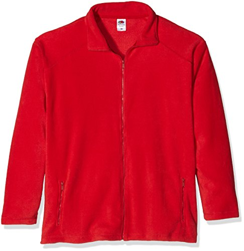 Fruit of the Loom Zip Front Sweat-Shirt Homme, Rouge (Red) XXL