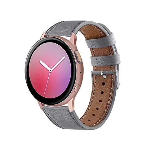 Adecuado para Samsung Galaxy Watch Active 2 generación Huawei GT2 Reloj fósil Reloj Michael Kors correa de cuero para mujer 14/16/18/20/22/24 mm, correa de cuero cruzada clásica