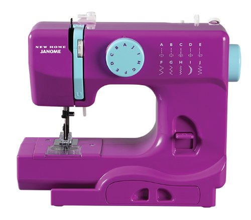 Janome Purple Thunder Basic, Easy-to-Use, 10-Stitch Portable, Compact Sewing Machine with Free Arm only 5 pounds