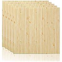 5 piezas 3D Papel tapiz de Estilo de madera, repique extraíble y pegatina de pared de espuma PE para sala de estar 22.05 sq.ft (5 piezas 3D Papel tapiz de Estilo de madera)