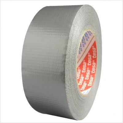 Tesa 744-64662-09001-00 Poly-Coated Contractor Grade Duct Tape, 24 lb/in Tensile Strength, 60 yds Length x 2