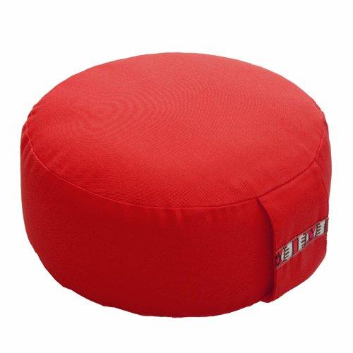 Lotus design cuscino da meditazione, basic-d 12cm, ca. 1.75kg, Light Red