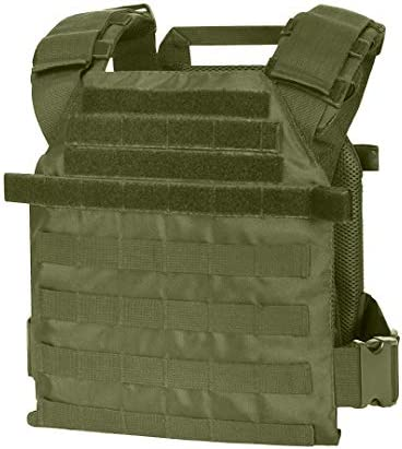 WarTechGears Tactical Fast Vest 10 X12 MOLLE and PALS Fully Adjustable Law Enforcement Green product image