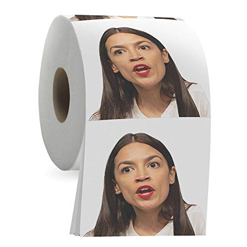 Alexandria Ocasio Cortez Toilet Paper Roll, Funny AOC TP, Political Novelty Gag Gift, Absorbent 3-Ply Bathroom Tissue with 200 Sheets, Best Joke Gift for White Elephant, Yankee Swap, Dirty Santa