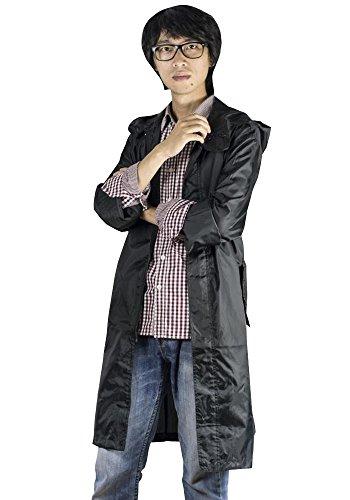 KINDOYO Hommes Mode Pluie Manteau Pluie Poncho Longue Imperméables à Capuche Camping Randonnée, Bleu, Taille Unique