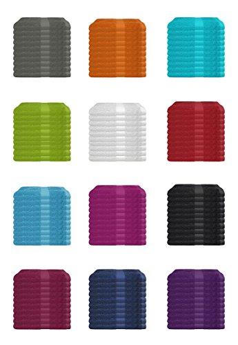 Wasserbetten-Markenshop SUPERTOLL 10er Pack Gästetücher, 30x50 cm 100% Baumwolle in vielen Farben - 10er Pack Gästetuch, Gästetücher, 30x50 cm, Farbe Anthrazit