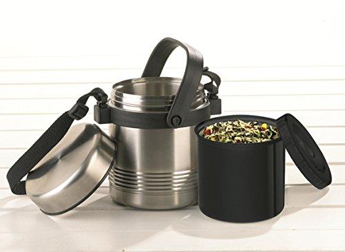Senator k309141L Black, Stainless Steel Vacuum Flask–Vacuum flasks (1l, Black, Stainless Steel, Stainless Steel, 6H, 12h, 743g),TEFAL,
