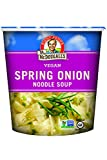 Dr. McDougall's Right Foods Vegan Spring Onion Noodle Soup, 1.9 Ounce Cups (Pack of 6) Gluten-Free,...