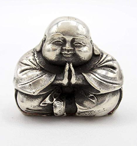 Chinesische Hotai Buddha (5,5cm) Figur Klein China Glücksbringer Bronze - Asien Lifestyle