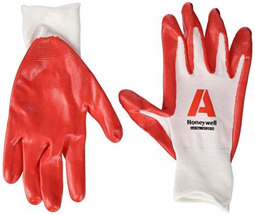 Honeywell Check and Go Nit 1 Handschuhe, rot/weiß, Größe 10, 10 Stück