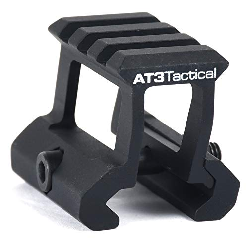 "AT3 Tactical PRO-Mount Mini Riser Mount – .83"" and 1"" - for RD-50 Red Dot Sight & Any Picatinny/Weaver Scope (1.0 Inch)"