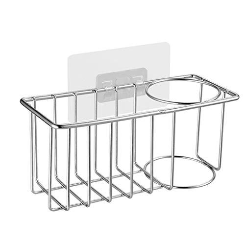 Fenteer Porte-éponge de Cuisine en Acier Inoxydable Porte-Savon pour évier Organisateur de Caddy pour évier - Argent, C
