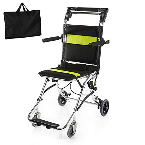small Healva transport wheelchair, foldable portable mobile wheelchair with handbrake, …