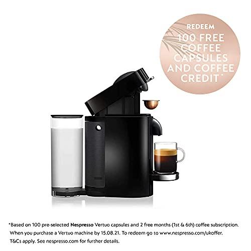 Nespresso Vertuo Plus Bundle 11387 Coffee Machine with Aeroccino by Magimix, Black