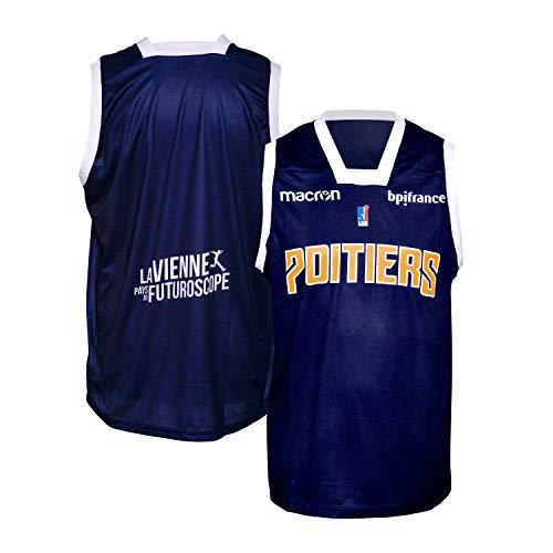 Poitiers Basket 86 - Camiseta Oficial para Exteriores 2018-2019, Unisex Adulto, Color Azul, tamaño Medium