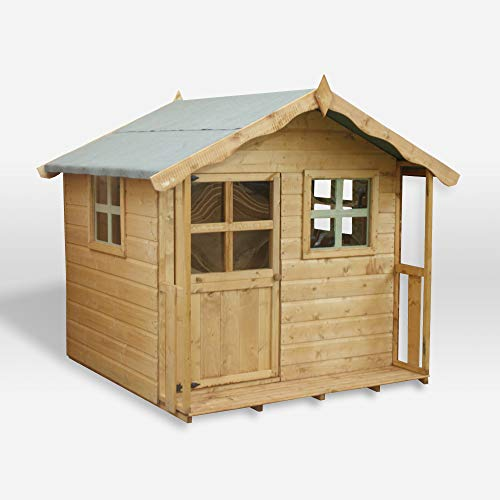 WALTONS EST. 1878 Wooden Garden Playhouse 5x5, Children's Outdoor Wendy House, Apex Roof, Safety Styrene Windows (5 x 5 / 5Ft x 5Ft)