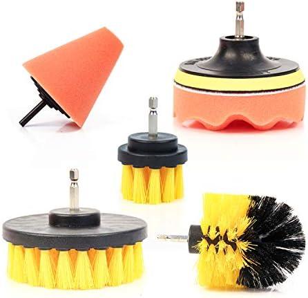 Top 10 Best nylon power brush tile and grout bathroom cleaning scrub brush kit