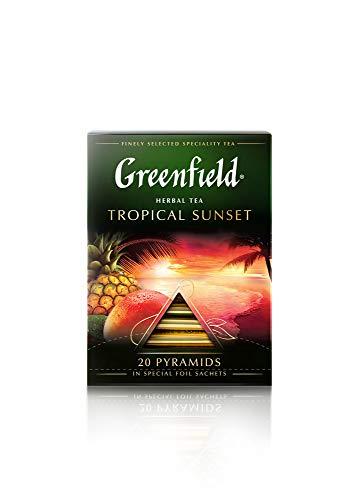 [2 PACK] Herbal tea Greenfield TROPICAL SUNSET Beverages Grocery Gourmet Food [20 of tea pyramids in 1 PACK]