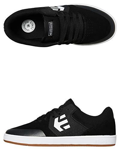 Etnies Unisex-Kinder Kids Marana Skateboardschuhe, Schwarz (968-Black/Gum/White 968), 37.5 EU (4.5 UK)