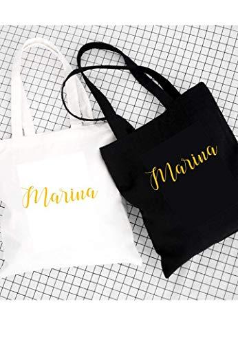 Bolso Tote bag en blanco o ngero. Regalo personalizado para mujer, cumpleaños,...