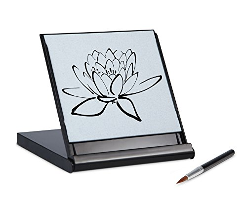 Zen Artist Board Mini, Paint with Water Relaxation Meditation Art, Relieve Stress, Small Travel Size Magic Drawing Watercolor with Brush