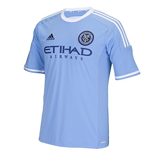 MLS New York City FC Men's Replica Short Sleeve Team Jersey, Blue, XX-Large