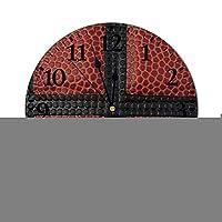 バスケットボールのパターン現代の壁時計クラシック壁時計非カチカチ音をたてるアートキッチン、オフィス、レトロなぶら下げ時計、家の装飾アクセサリー用フレームレス静かなデスク時計