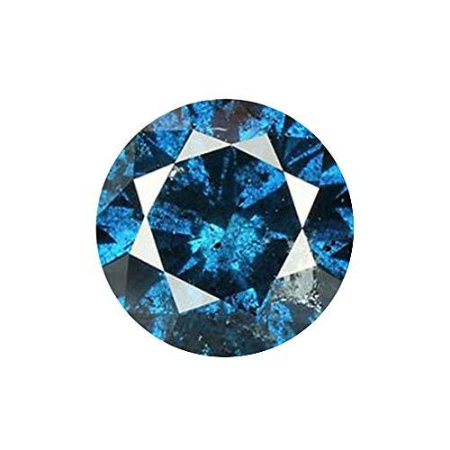 ラウンドブリリアント 天然 ファンシーブルー ダイヤモンド ルース (I1)