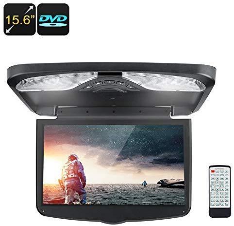 15,6-Zoll-Dach-Monitor - Auto-DVD-Player mit 1366x768p, AV, USB, SD, Region Free DVD, FM Transmitter, Eingebauter Lautsprecher, 32-Bit-Spiele-Support lsmaa