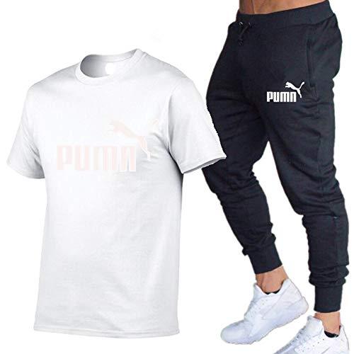 T-Shirt Manica Corta Casual estiva da uomo Girocollo e Tuta da Alpinismo Blanco XXL