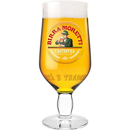 2 x Birra Moretti Pint Glass