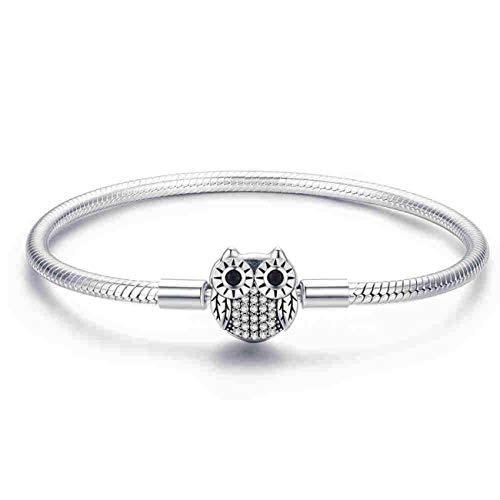 Pulseras Genuine Bracelet Silver 925 Jewelry Snake Chain Bangle & Bracelet Silver 925 Original Jewelry Valentine Gift HJS902 HSB067 20 cm