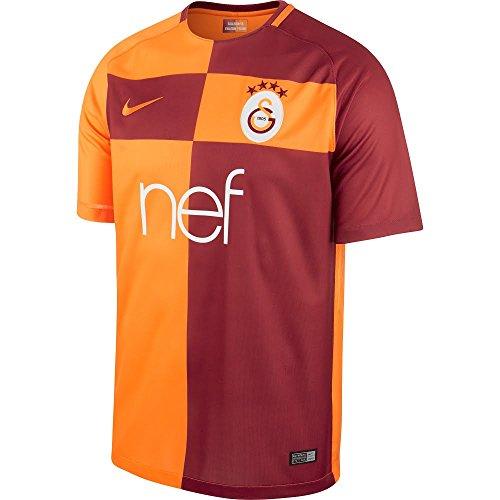Nike heren Galatasaray Istanbul Stadium Thuis 2017/2018 teamshirt, rood/oranje, M-44/46