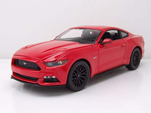 Maisto 1:18 Scale 2015 Ford Mustang Diecast Vehicle (Colors May Vary)