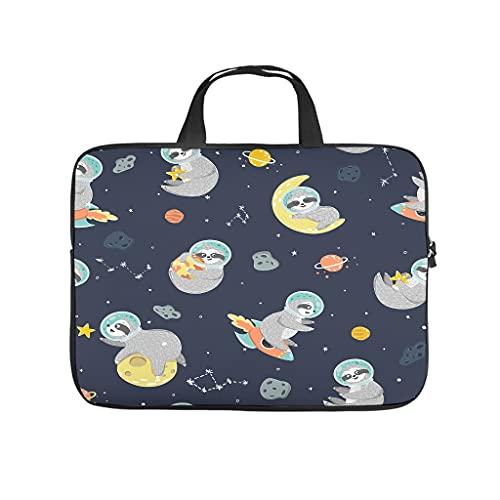 Space Astronaut Sloth Laptop Bag Multifuntional Super Lightweight Hand Bag Laptop Messenger Bag for Work Study for Men Women White 10 Zoll