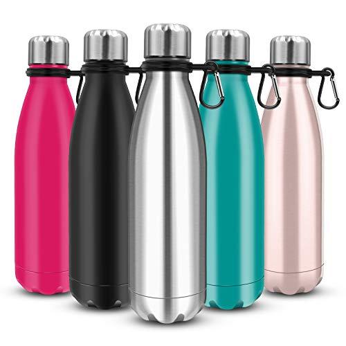 Govvay Trinkflasche Edelstahl Thermosflasche, ohne leckage - Edelstahl ohne BPA - Wiederverwendbare Wasserflasche - Doppelte Vakuumwand - Hält kalte Getränke für mehr als 24 Stunden