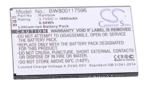 vhbw Li-Ion Akku 1800mAh (3.7V) für Handy Smartphone Telefon Cubot Rainbow