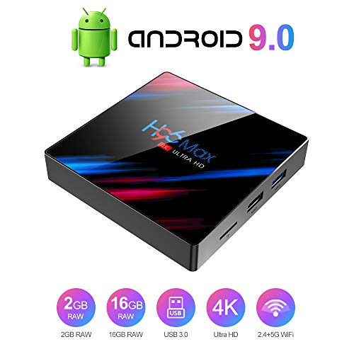 TV Box Android 9.0 TV Box Smart Media Box 2GB RAM 16GB ROM 4.2 WiFi 2.4G Ethernet 2USB 3.0 Set Top Box Support 4K Ultra HD Internet Video Player …