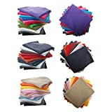 Polar Fleece Anti Pill Fat Squares Fabric Bundles by Neotrims. 11 Colors per Bundle, 3 Combos, Pastels, Earthy Darks & Solid Brights. Great Price & Selection