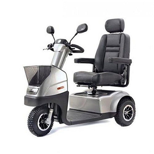 Afikim - Afiscooter C3 Breeze - Mid Size Mobility Scooter - 3-Wheel - Metallic Silver
