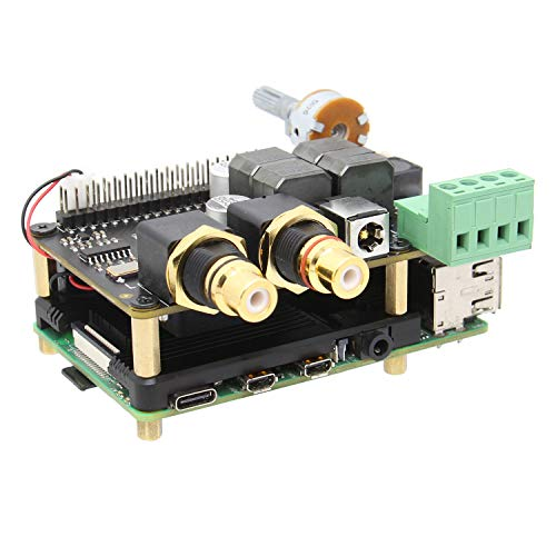 Geekworm Raspberry Pi DAC AMP, X5500 HiFi DAC+ AMP Expansion Board Support X872/X862/X857/X710 Compatible with Raspberry Pi 4B/3B+/3B/2B/B+
