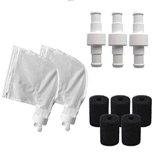 Poweka Tune-Up Replacement Kit para Polaris Robot Limpiafondos Piscina Automático con K13 K16 Bolsas de Uso Múltiple, D20 Racor Giratorio Adaptable y 9-100-3105 Depurador de Manguera de Barrido
