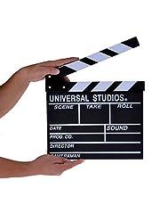 لوح كلاكيت لاخراج لقطات الفيديو للتلفاز والافلام لون ابيض