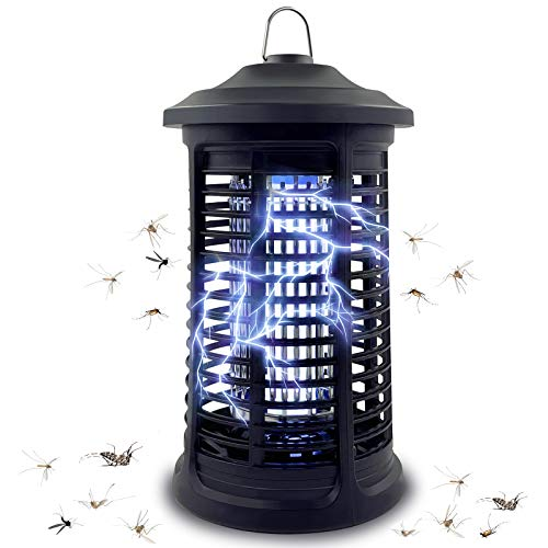 Bug Zapper for Indoor & Outdoor, Electric Mosquito Zapper Killer, 4200V Electric Mosquito Killer, Waterproof Powered Electric Mosquito Zappers Killer, Powerful Insect Killer for Home Garden Backyard