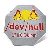Dev Null Red Bull Winddichter kompakter Automatischer Faltschirm, automatischer Faltbarer Reise-Sonnenschirm