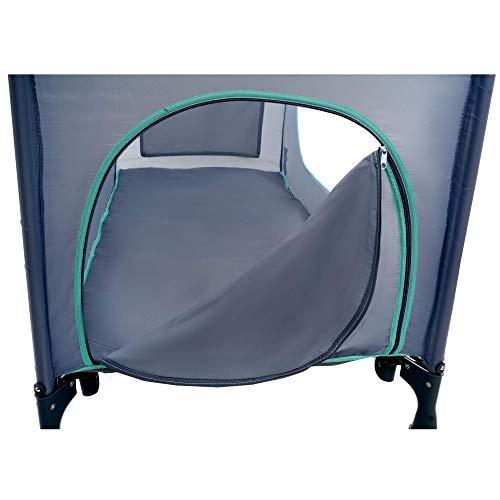 KINDEREO Comfort Plus Babybett Wickelauflage Laufstal Reisebett Kinderreisebett Kinderbett Klappbett für Kinder und Babys mit Zubehören (Grau-Minze) - 8